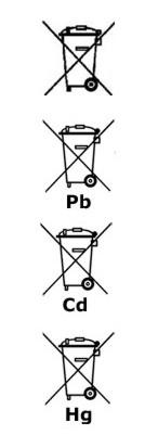 Mülltonnen-Symbole zur Batterieverordnung
